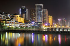City night scene. Cityscape night scene in guiyang china Stock Photography