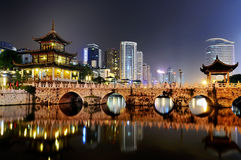 City night scene. Cityscape night scene in guiyang china Stock Image