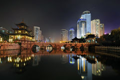 City night scene. Cityscape night scene in guiyang china Stock Photos