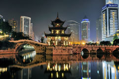 City night scene. Cityscape night scene in guiyang china Stock Photo