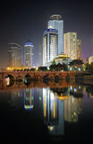 City night scene. Cityscape night scene in guiyang china Royalty Free Stock Image