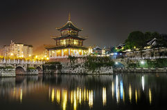 City night scene. Jiaxiulou night scene in guiyang china Stock Photos