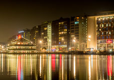 City night scene of Amsterdam with reflection Stock Photo