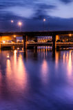 city night scene of bridge Royalty Free Stock Image