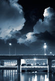 City night scene of bridge Royalty Free Stock Image