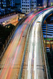 City night scene with cars light Stock Photos