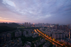 City night scene,chongqing,china Stock Image