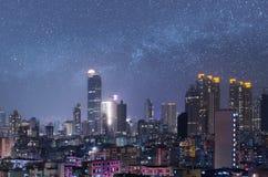 City night scene of Hong Kong Stock Images