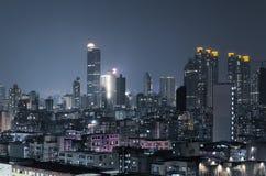 City night scene of Hong Kong Royalty Free Stock Image