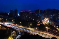City night scene in Taipei Stock Photos
