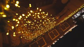 City at night, scenery decorations for celebrating Christmas and New Year. In Odessa stock video