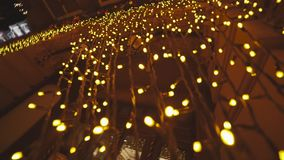 City at night, scenery decorations for celebrating Christmas and New Year. In Odessa stock footage