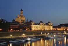 City night scenic in Dresden. Stock Photography