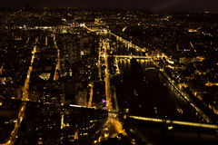 City by night - Seine,Paris, France Royalty Free Stock Photo