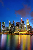 City night of singapore Stock Photography