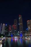 city night singapore Στοκ φωτογραφία με δικαίωμα ελεύθερης χρήσης