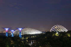 city night singapore Στοκ Φωτογραφία