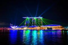 city night singapore Στοκ εικόνα με δικαίωμα ελεύθερης χρήσης