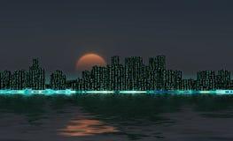 city night skyline Στοκ Εικόνα