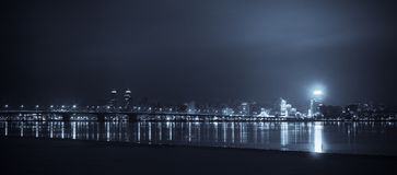 City of night. Royalty Free Stock Photography