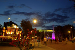 City night square,Varna Royalty Free Stock Photography