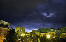 City night storm Royalty Free Stock Photos