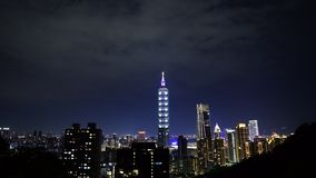 City night of Taipei, Taiwan. City night view of Taipei, Taiwan stock video