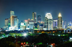 City at night. Thailand, Bangkok, the center. Stock Image