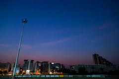 City on night time. City Lights At Night Time royalty free stock image