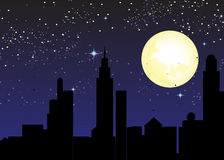 City At Night Time Stock Photo
