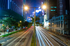 City Night Traffic Stock Photo