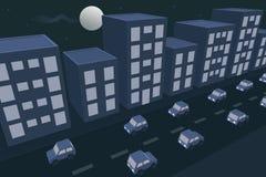 City night traffic Stock Photos