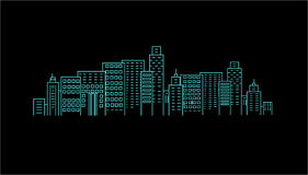 City at night. Vector illustration Stock Photos