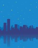 City at night. Vector Illustration of a city at night Royalty Free Stock Photo