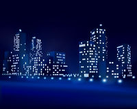 City at night. Vector illustration Stock Photos