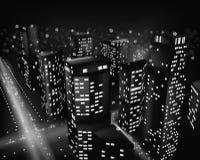 City at night. Vector illustration Royalty Free Stock Photos