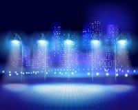 City at night. Vector illustration. Stock Image