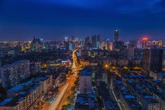 The city at night Stock Image