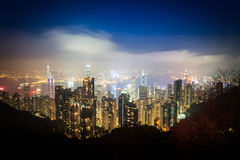 City night view of Hong Kong Stock Photography