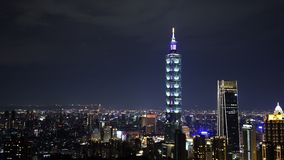 City night of Taipei, Taiwan. City night view of Taipei, Taiwan stock video footage