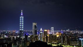 City night of Taipei, Taiwan. City night view of Taipei, Taiwan stock footage