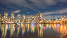 City night  views-yaletown Vancouver Royalty Free Stock Image