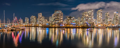 City night  views-yaletown Vancouver Royalty Free Stock Images