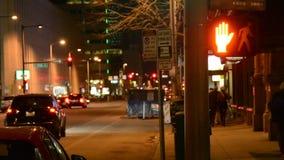 City at night stock video