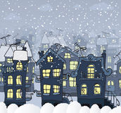 City in the night (Winter) Stock Images