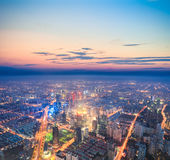 City nightfall scene Stock Photography