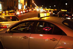 City nightlife. Many bright lights Royalty Free Stock Photos