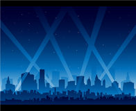 City nightlife movie premiere. Nightlife stock illustration