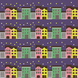 City nightlife simple pattern. Element for design, walpaper, pattern Stock Photo