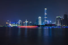 City nightview of Guangzhou Stock Photography